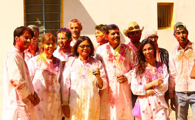 Holi festival motorcycle tour Rajasthan